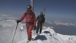 Skiing from the roof of Europe